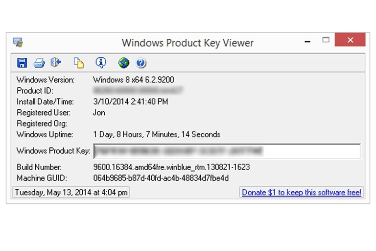 Screenshot de Windows Activation Key Viewer