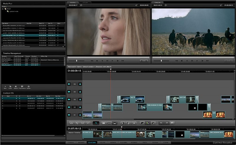 Screenshot de Davinci Resolve