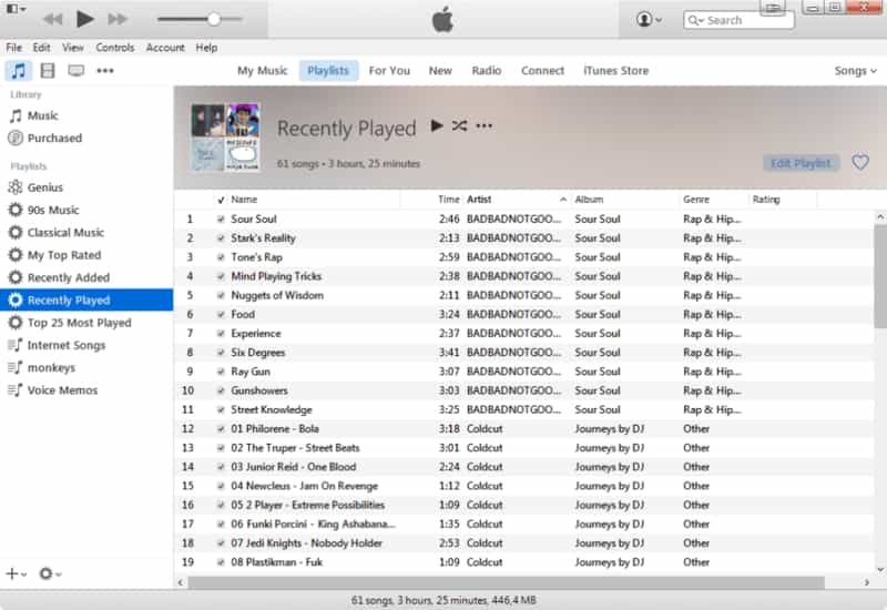 Screenshot de iTunes