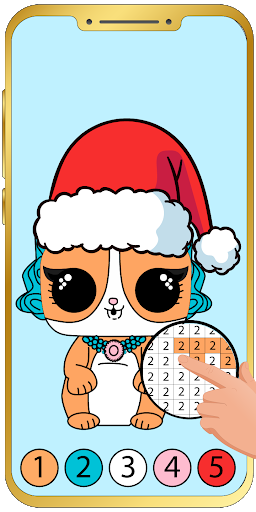 Aperçu Pets Coloring by number : Game for kids - Img 1