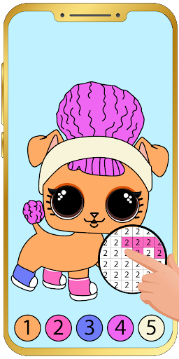 Aperçu Pets Coloring by number : Game for kids - Img 2