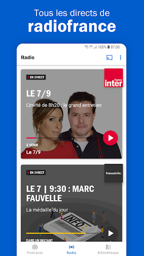 Aperçu Radio France - podcasts, direct radios - Img 1
