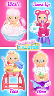 Aperçu Sweet Baby Girl Doll House - Play, Care & Bed Time - Img 2