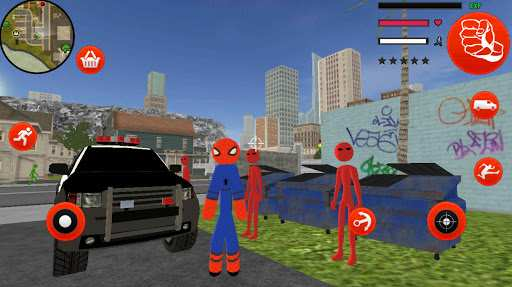 Aperçu Amazing Spider Stickman Rope Hero Gangstar Crime - Img 2